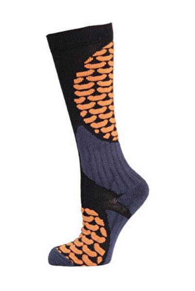 Ski & Snowboard Erkek Kayak Çorabı Siyah/Turuncu