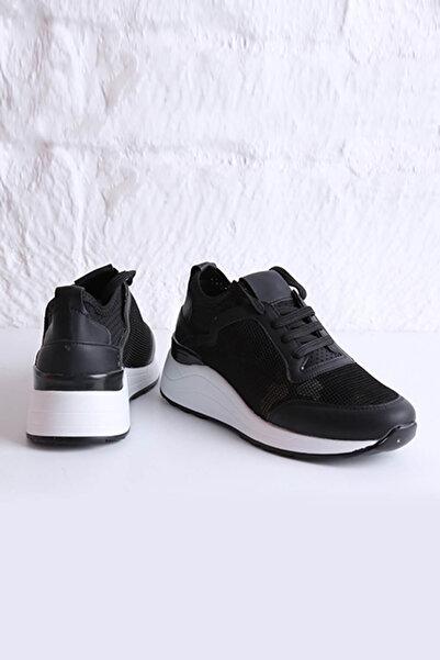 DayNnight Kadın Siyah-Kamuflaj Sneaker 4152