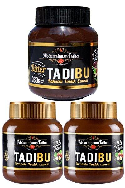 Abdurrahman Tatlıcı Tadıbu Bitter Kakaolu Fındık Ezmesi 330 gr + Tadıbu Kakaolu Fındık Ezmesi 330 gr x 2 Adet