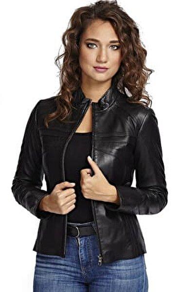 Kadın Cinzia Siyah Deri Ceket 2323
