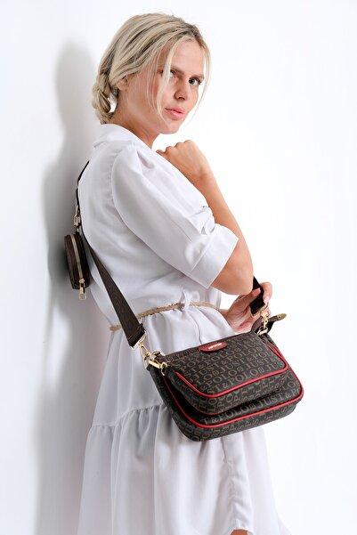 Just Polo Kadın Kahverengi Çapraz Omuz Çantası