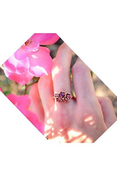 Armes Silver Nar Çiçeği Ayarlanabilir 925 Ayar Taşlı Kadın Gümüş Yüzük