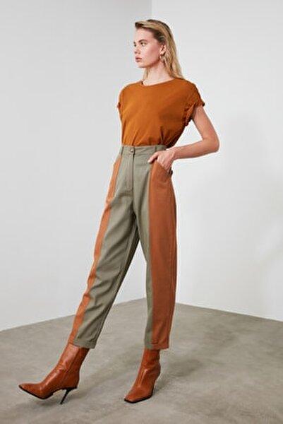 Haki Renk Bloklu Havuç Pantolon TWOAW21PL0120