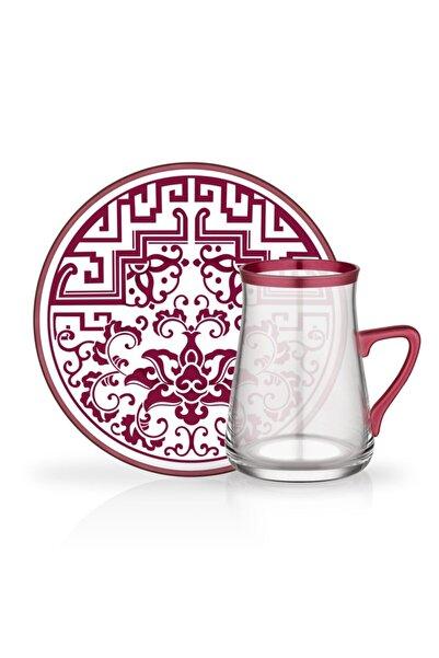 Glore Tarabya 12 Parça Kulplu Çay Bardağı Seti Jesica