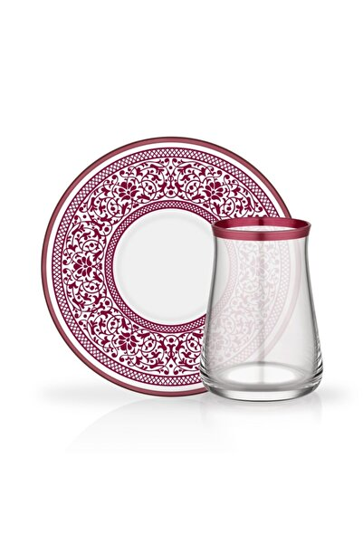 Glore Tarabya 12 Parça Çay Bardağı Seti Hanna