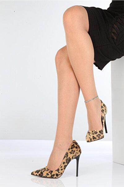 PABUÇ BUTİK Kadın Leopar Ince Topuk Stiletto