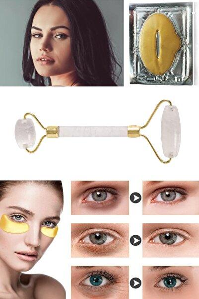 xolo Jade Roller Beyaz Yeşim Taşı + Dudak Maskesi + Gözaltı Maske Kolajen 8297415579370