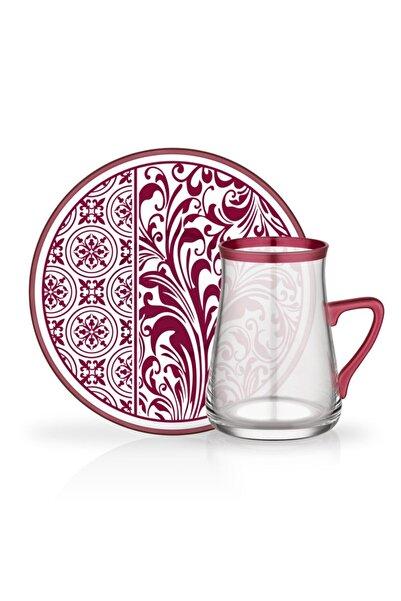 Glore Tarabya 12 Parça Kulplu Çay Bardağı Seti Estela