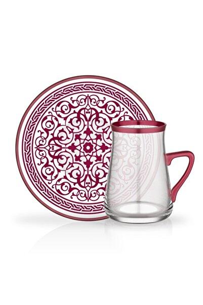 Glore Tarabya 12 Parça Kulplu Çay Bardağı Seti Destina