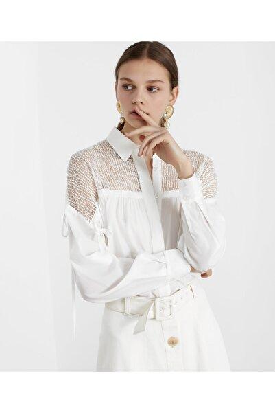 İpekyol Kadın Beyaz Tül Mixli Tunik IS1200016070