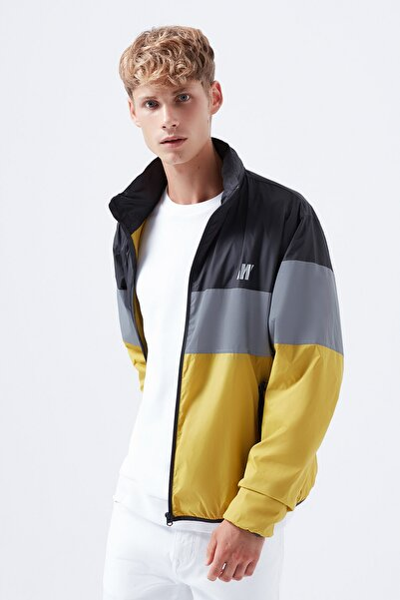 Mavi Reflektör Detaylı Kapüşonlu Ceket