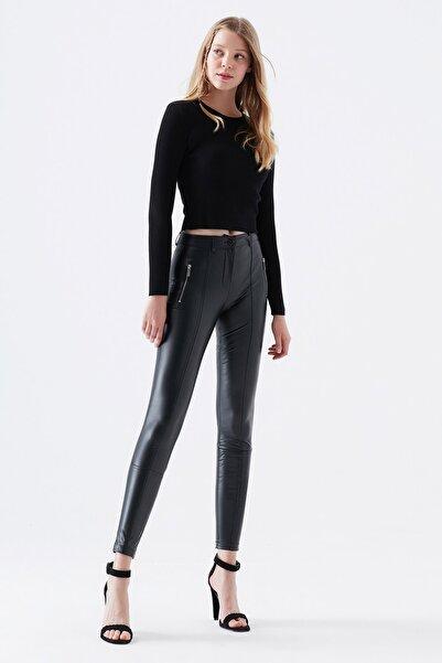 Mavi Kadın Fermuar Detaylı Siyah Pantolon 101254-900