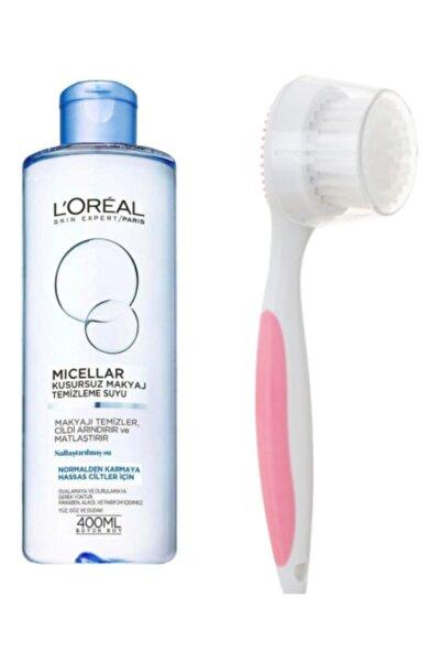 L'Oreal Paris Normal & Karma Ve Hassas Ciltler Için Makyaj Temizleme Suyu 400 Ml + Yüz Temizleme Fırça Seti