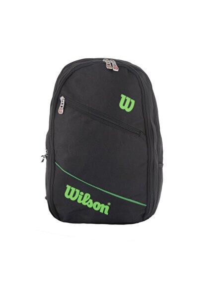 Wilson Unisex Siyah Yeşil Okul Sırt Çantası