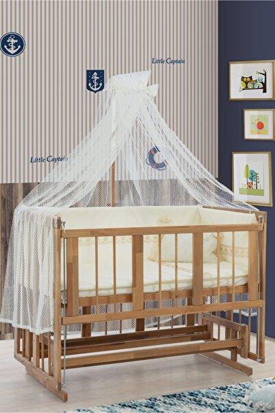 Setay Beşik, Doğal Ahşap Sallanan Anne Yanı Beşik + 120x60 Sünger Yatak + Cibinlik, Bebek Odası
