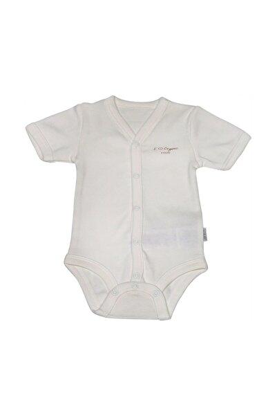 KitiKate Bebek Beyaz Organik Basic Kısa Kol Body S78760