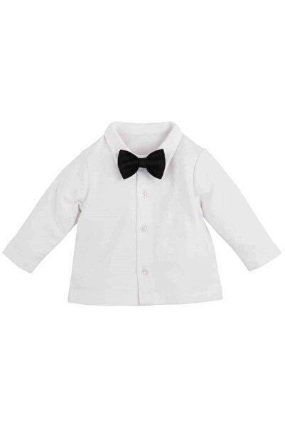 İDİL BABY Erkek Çocuk Beyaz Papyonlu Gömlek