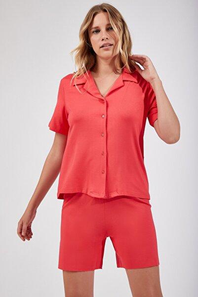 Happiness İst. Kadın Fuşya Şortlu Viskon Yazlık Pijama Takımı FN02208