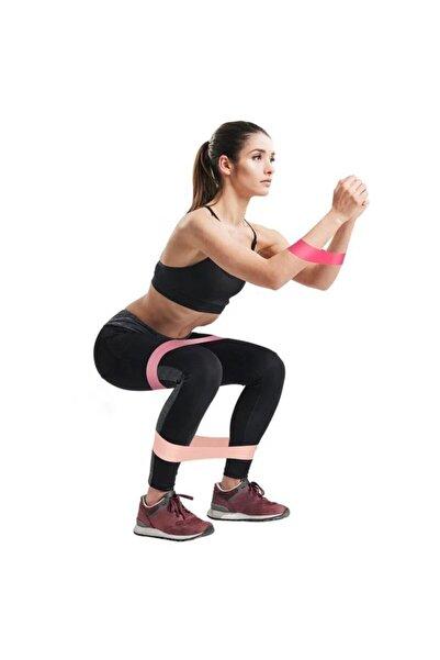 Clifton Farklı Dirençte Squat Bandı Latex Pilates Aerobik Çalışma Lastiği 3lü Set