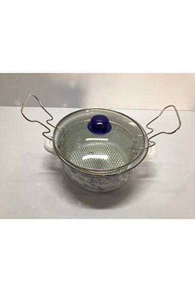 Cooker Mavi Emaye Kızartma Tenceresi 22 cm
