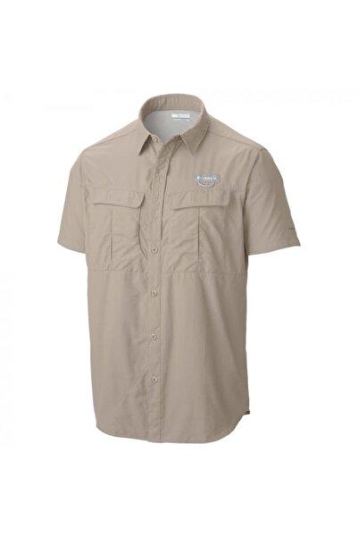 Columbia Erkek Bej Cascades Explorer Short Sleeve Shirt Gömlek