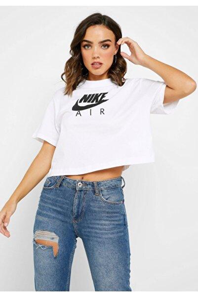 Nike Kadın Beyaz Yarım Kollu T-shirt W Nsw Air Top Ss  Bv4777-100