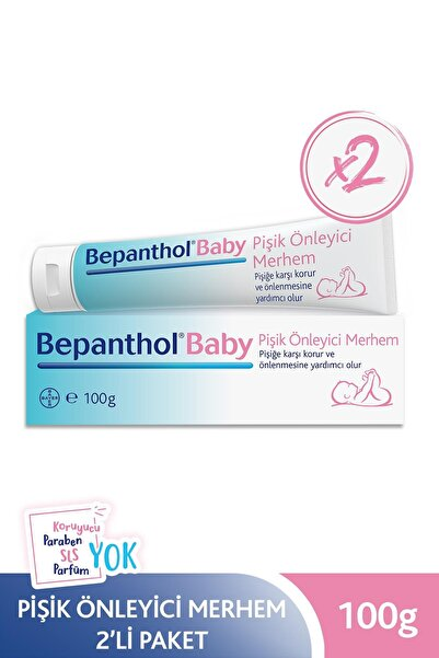 Bepanthol Baby Pişik Önleyici Merhem 100 g 2li Paket