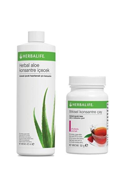 Herbalife Ahududu Çay 50gr ve Aloe Vera İçecek Paketi