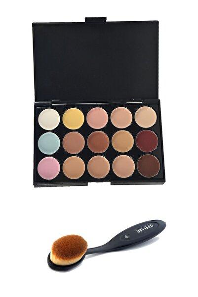 bbnaked Proffesional 15'li Foundation Concealer Palette Concealer Fırçası