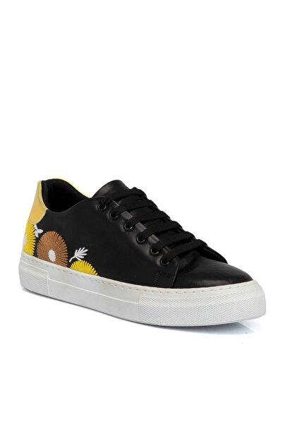 Tergan Siyah Tekstil Kadın Ayakkabı 64541d62