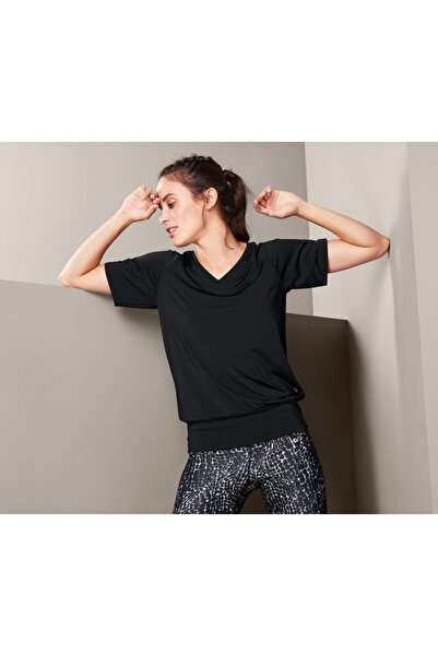 Tchibo Kadın Siyah Spor Tişört