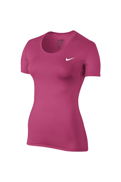 Nike Nıke Pro Womens Top Ss Kadın Tişort 725745-616