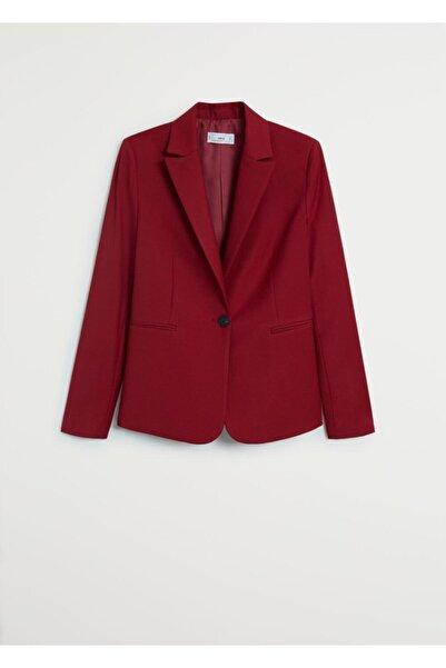 MANGO Woman Kadın Astarlı Gündelik Blazer Ceket
