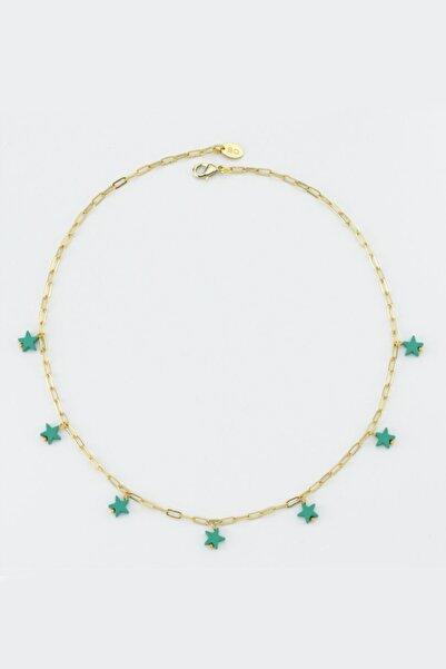 BERRİN ÖZKAN Colourful Stars Yeşil Yıldızlı Kolye