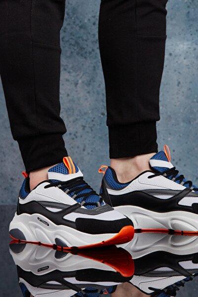 DARK SEER Beyaz Mavi Erkek Sneaker DS.MJ1838