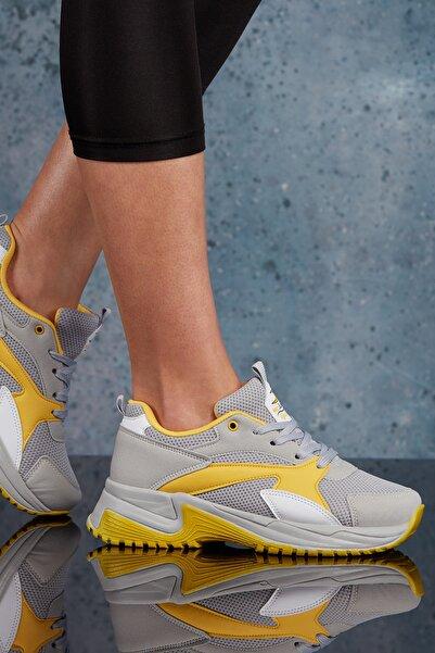 Buz Sarı Kadın Sneaker DS.MJ1812
