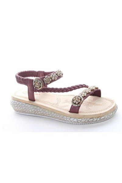 Guja 19y209-3 Kadın Bordo Günlük Sandalet