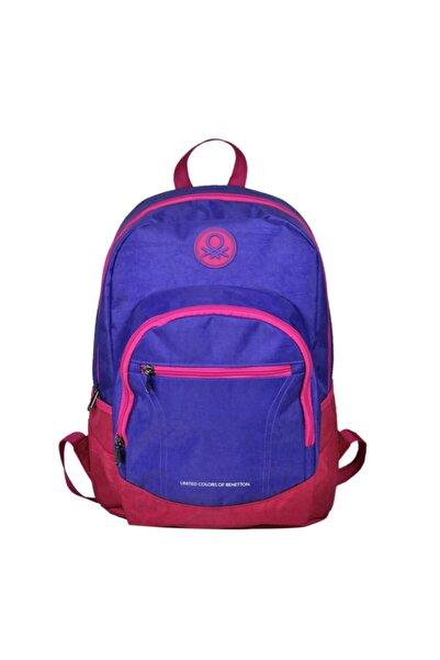 United Colors of Benetton Mor Pembe Sırt Çantası Okul Çantası 96019