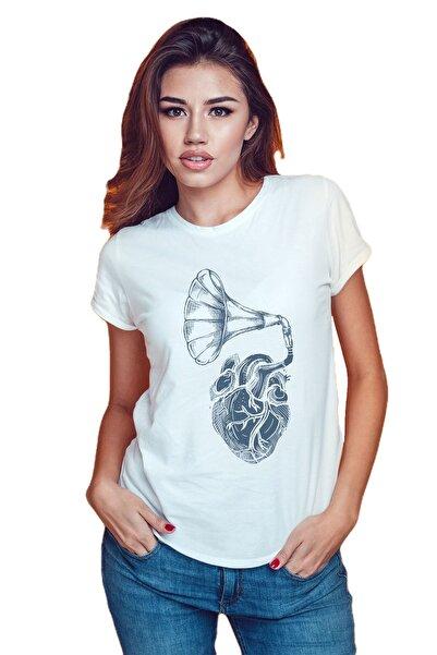 Koala Kadın Beyaz Baskılı T-Shirt GKT002BGRAMMO