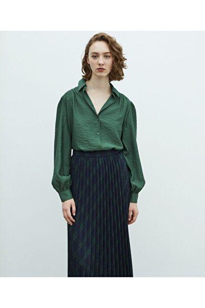 MISS IPEKYOL Kadın Yeşil Oversize Gömlek