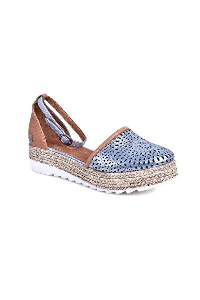 Mammamia Kadın Mavi Kot Sandalet