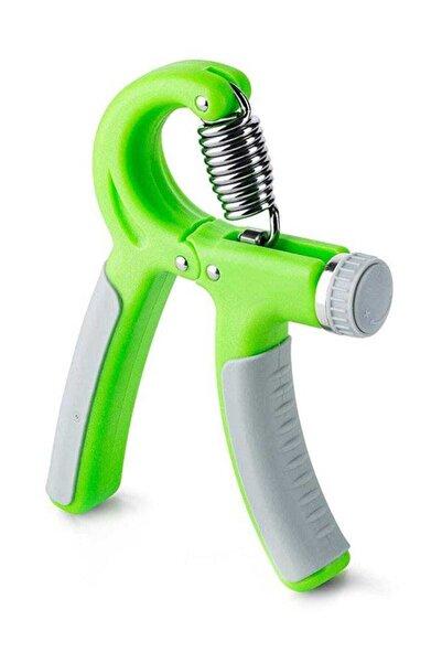 Yeşil 5 - 20 kg Arası Sertlik Ayarı Yapılabilir Dirençli El Yayı