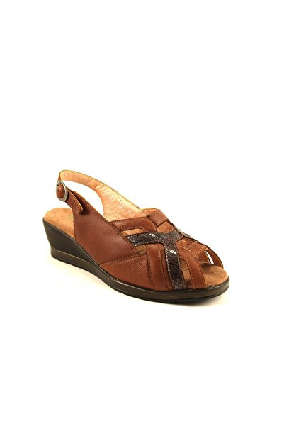 Forelli Kadın Taba Deri Sandalet 27103