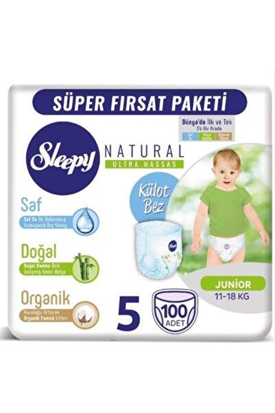 Sleepy Natural Külotlu Bebek Bezi Mega Paket 5 Numara 100 Adet X 2 Paket