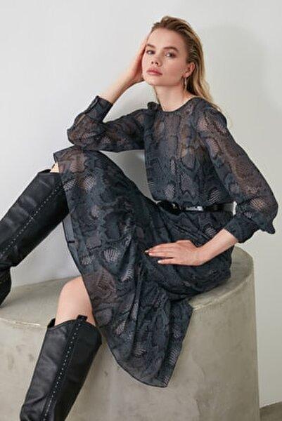 Çok Renkli Desenli Elbise TWOAW21EL0347
