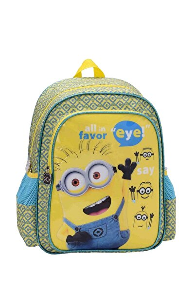 Minions Kabartmalı Sarı Mavi Okul Çantası