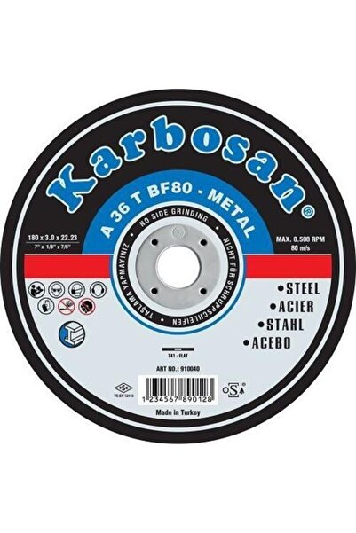 KARBOSAN Metal Spiral Taşı 115x30
