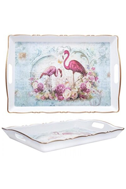 BİEV  Flamingo Desen Tepsi