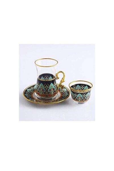 Kristal Paşabahçe Sıla 18 Parça Çay Bardağı Ve Mırra Takımı- 6 Kişilik