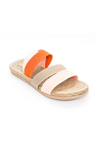 Polaris Kadın Pudra Turuncu Sandalet